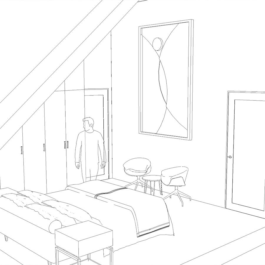 Slaapkamer Henri House